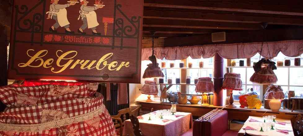 intérieur restaurant Le Gruber
